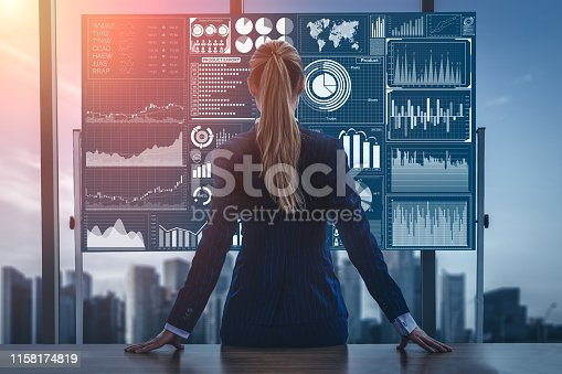 istock Big Data Technology for Business Finance Concept. 1158174819
