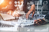 istock Big Data Technology for Business Finance Concept. 1159121040