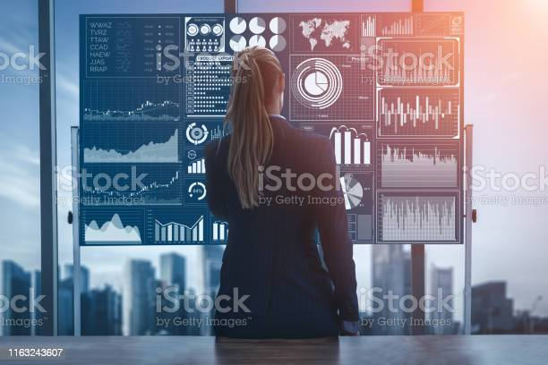 Big Data Technology For Business Finance Concept Stock Photo - Download Image Now