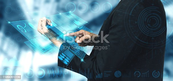 istock Big Data Technology for Business Finance Concept. 1189051226