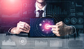 istock Big Data Technology for Business Finance Concept. 1201073218