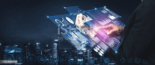 istock Big Data Technology for Business Finance Concept. 1202869156