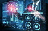 istock Big Data Technology for Business Finance Concept. 1204099655
