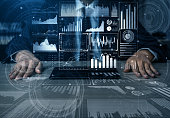 istock Big Data Technology for Business Finance Concept. 1204099682