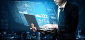 istock Big Data Technology for Business Finance Concept. 1205638540