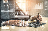 istock Big Data Technology for Business Finance Concept. 1205639190
