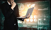 istock Big Data Technology for Business Finance Concept. 1207436701