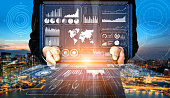 istock Big Data Technology for Business Finance Concept. 1207436711