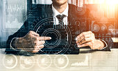 istock Big Data Technology for Business Finance Concept. 1208961839