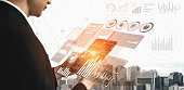 istock Big Data Technology for Business Finance Concept. 1208961887