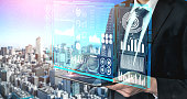 istock Big Data Technology for Business Finance Concept. 1210454610
