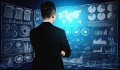 istock Big Data Technology for Business Finance Concept. 1211505500