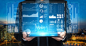 istock Big Data Technology for Business Finance Concept. 1213159713