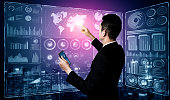 istock Big Data Technology for Business Finance Concept. 1214405473