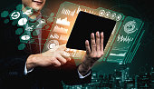 istock Big Data Technology for Business Finance Concept. 1218694417