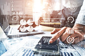 istock Big Data Technology for Business Finance Concept. 1219864287