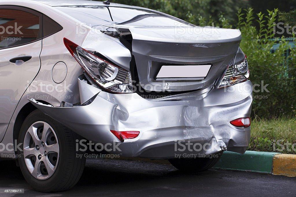 Big dent on car foto