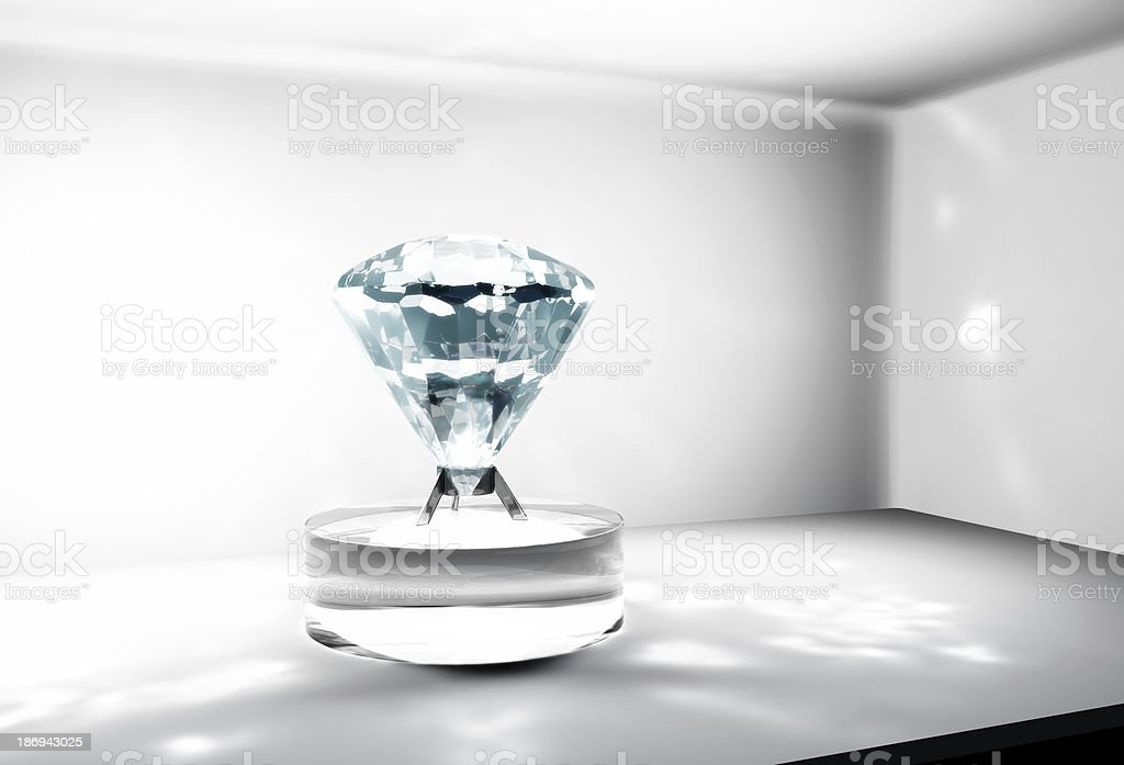 big diamond into a safe royalty-free stock photo