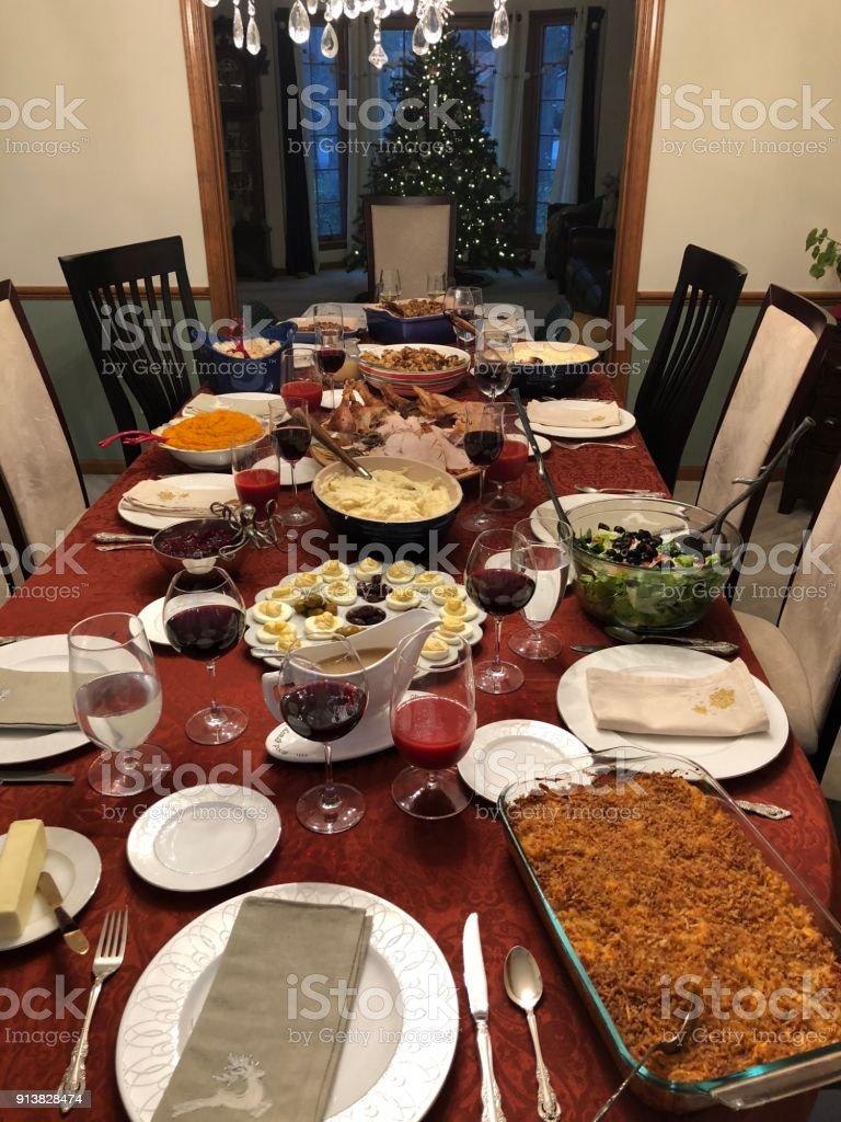 Big dinner stock photo