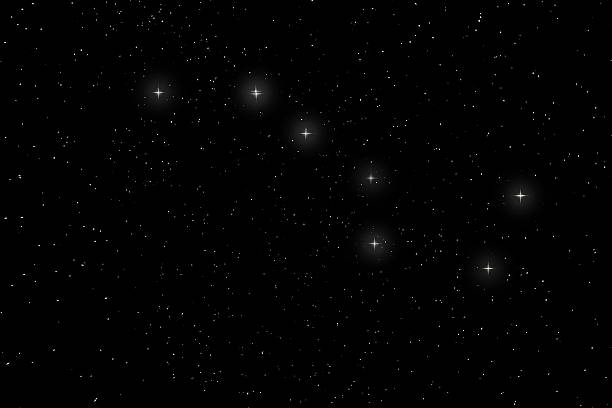 Big Dipper Constellation, Ursa Major, The Great Bear Big Dipper Constellation, Ursa Major, The Great Bear big dipper constellation stock pictures, royalty-free photos & images