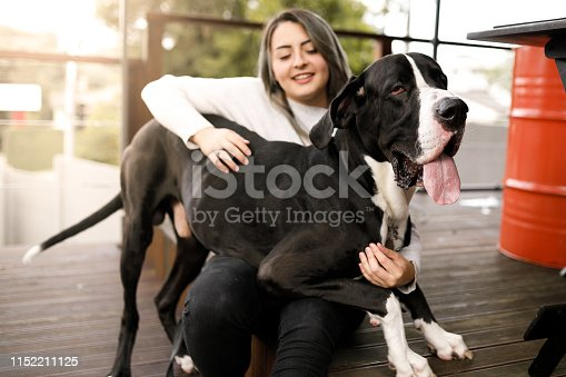 Girl and her dog.