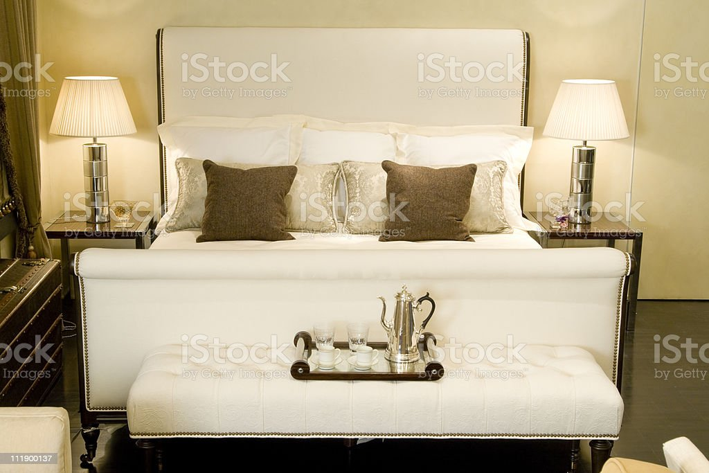 big double bed royalty-free stock photo
