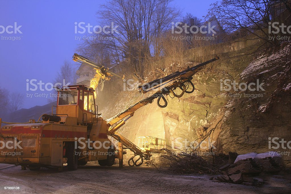 Big drilling machine royalty-free stock photo