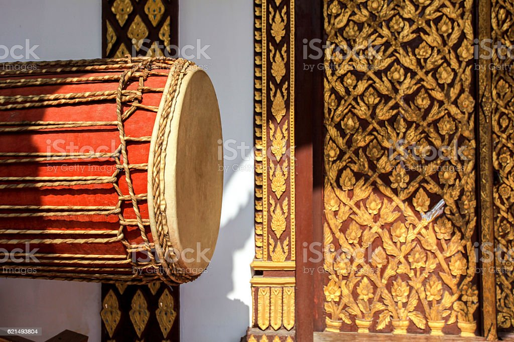 big drum musical instrument antique photo libre de droits