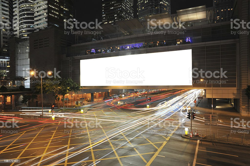 Big Empty Billboard stock photo