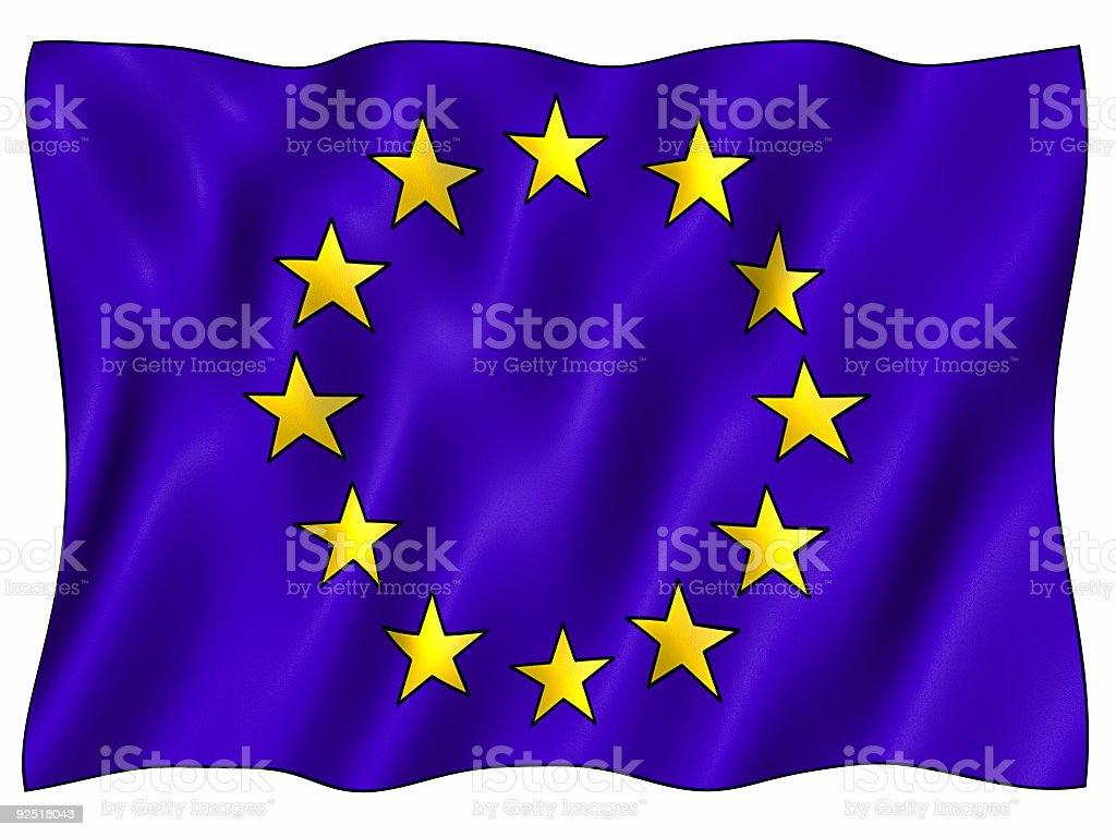 Big EU Flag royalty-free stock photo