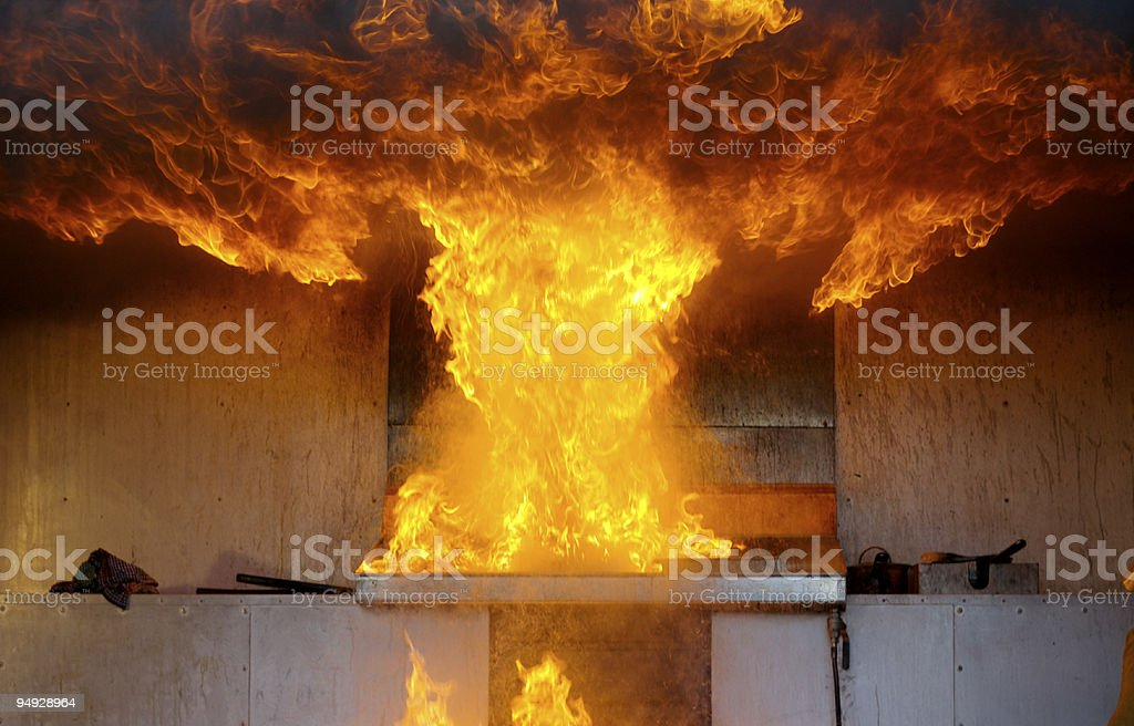 Big explosion stock photo