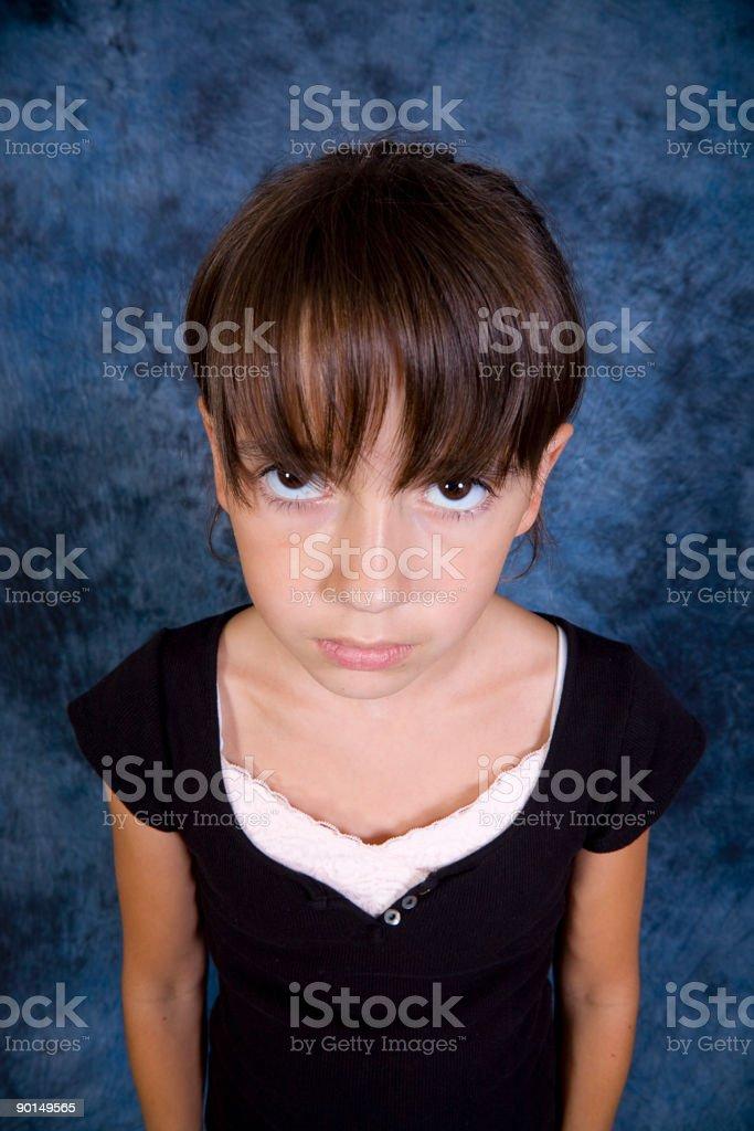 Big Eyed Girl royalty-free stock photo