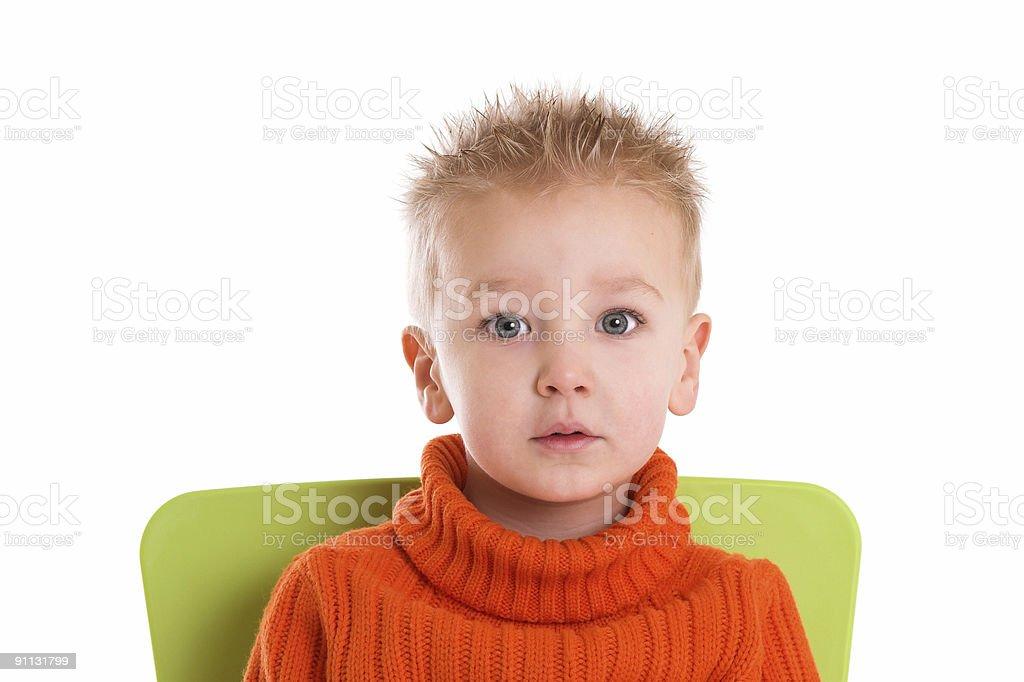 Big eyed royalty-free stock photo