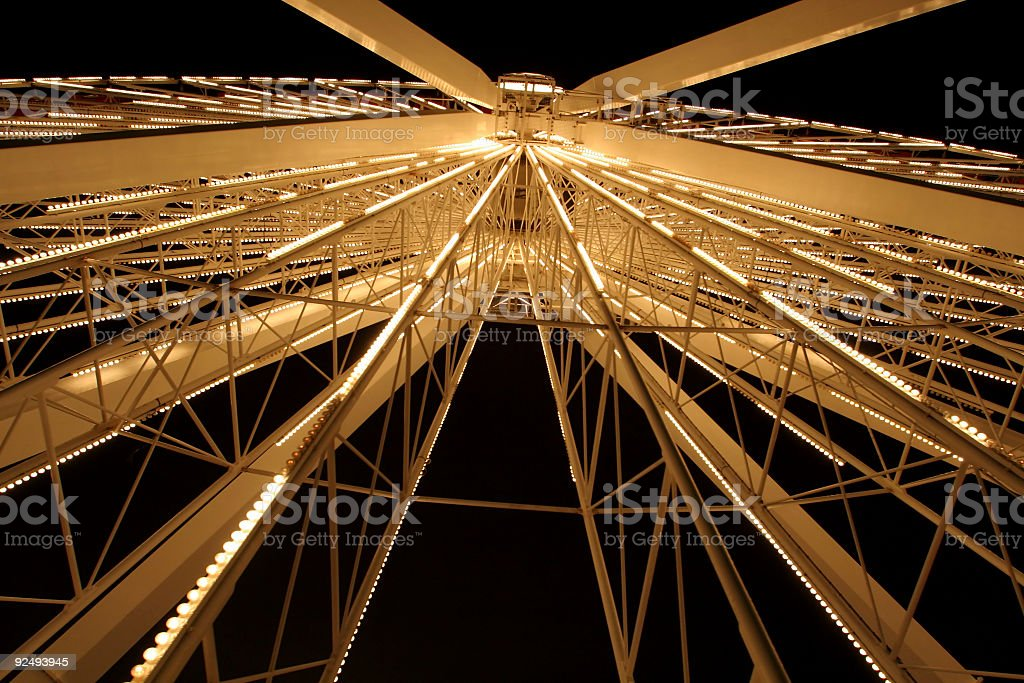 Big Fairground Wheel at Night royalty-free stock photo