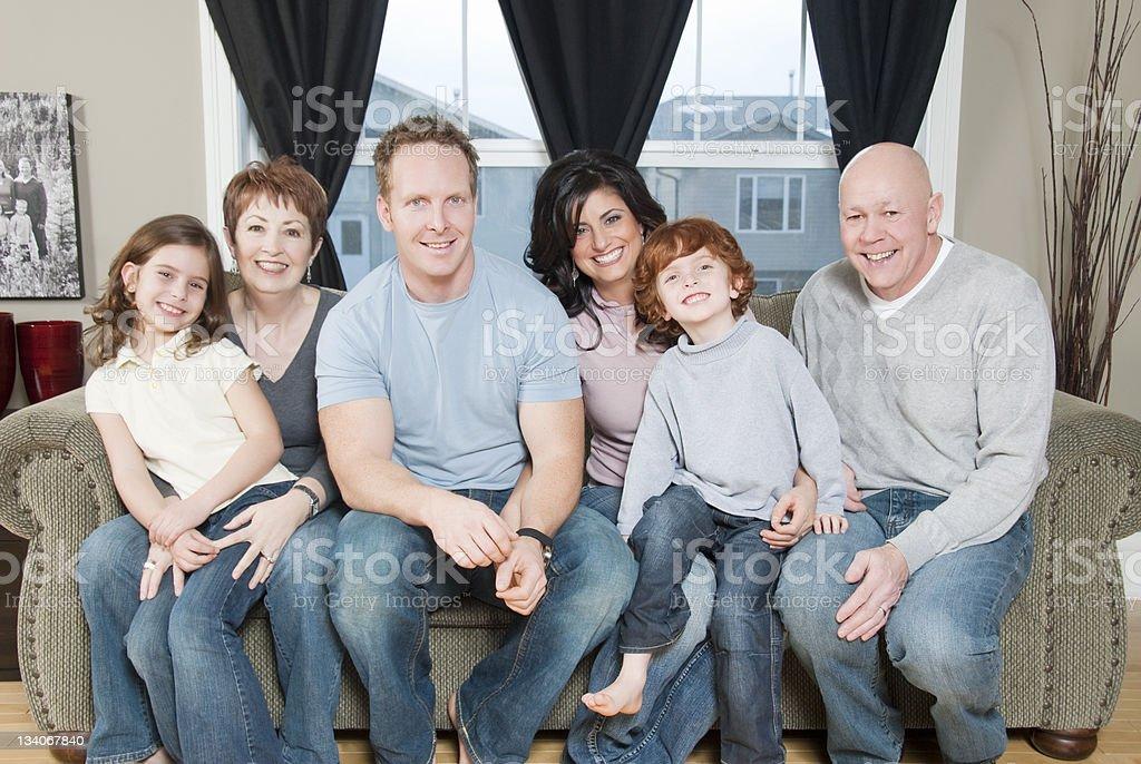 Big Family at Home royalty-free stock photo