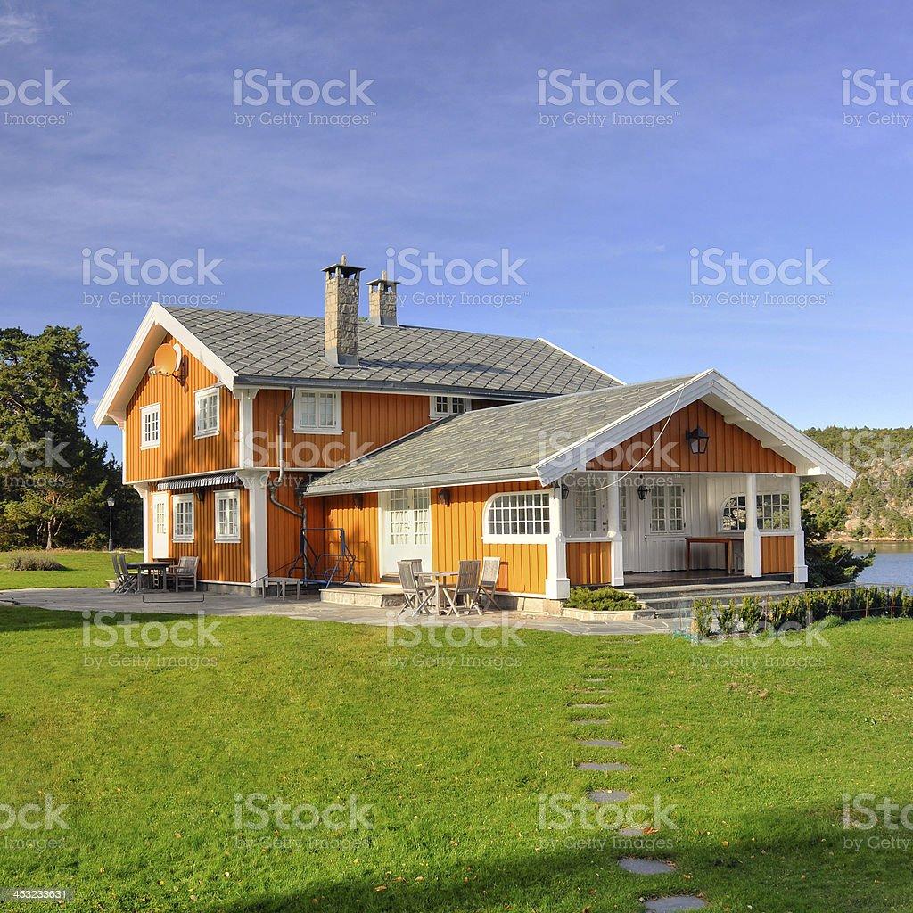 Big family house (square) stock photo