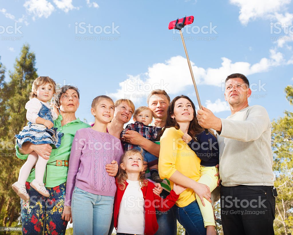 Big Family stock photo