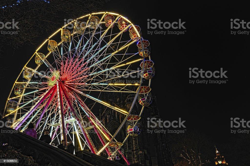 Big Ferris Wheel, East Princes Street Gardens, Edinburgh, Scotland royalty-free stock photo