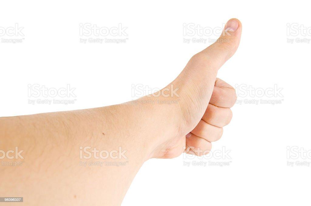 big finger royalty-free stock photo