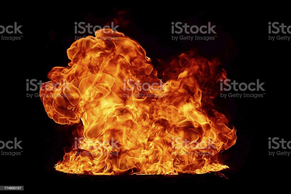 Big fireball royalty-free stock photo