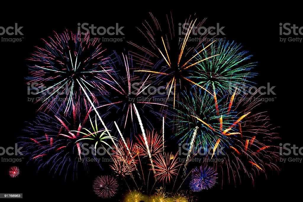 Big firework display royalty-free stock photo