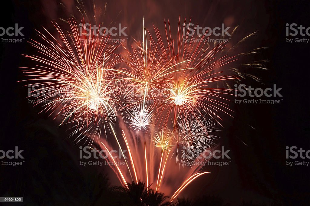 Big firework royalty-free stock photo