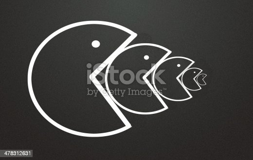 istock Big fish eat sign 478312631