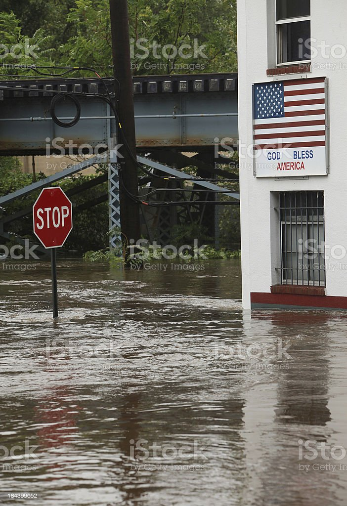 Big Flood in USA royalty-free stock photo