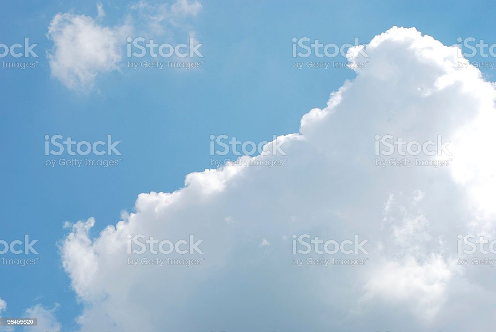 Big fluffy cloud royalty-free stock photo