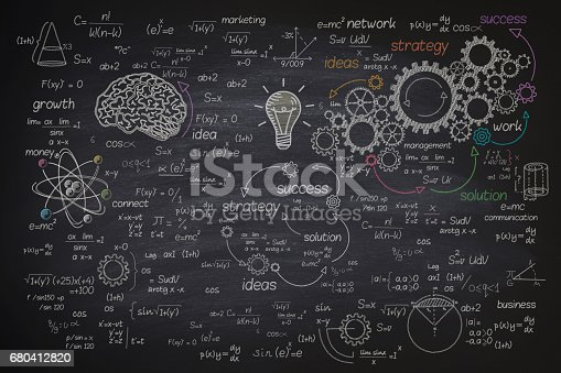 istock Big formula on blackboard 680412820