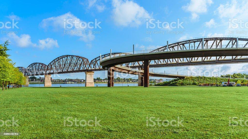 Big Four Bridge Louisville KY stock photo