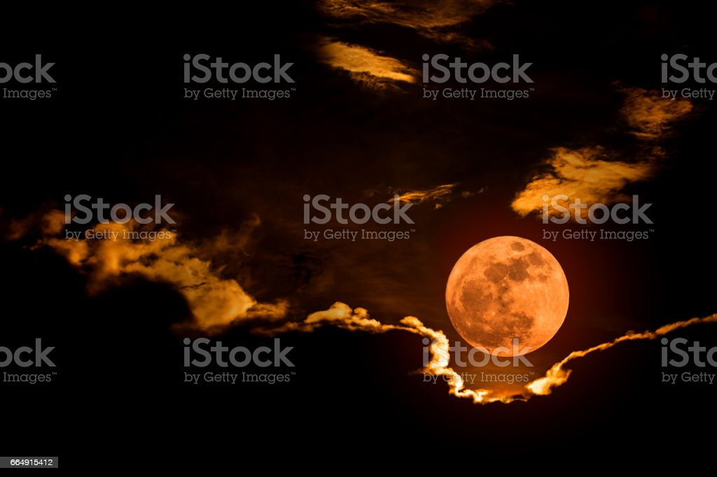 Big Full Moon stock photo