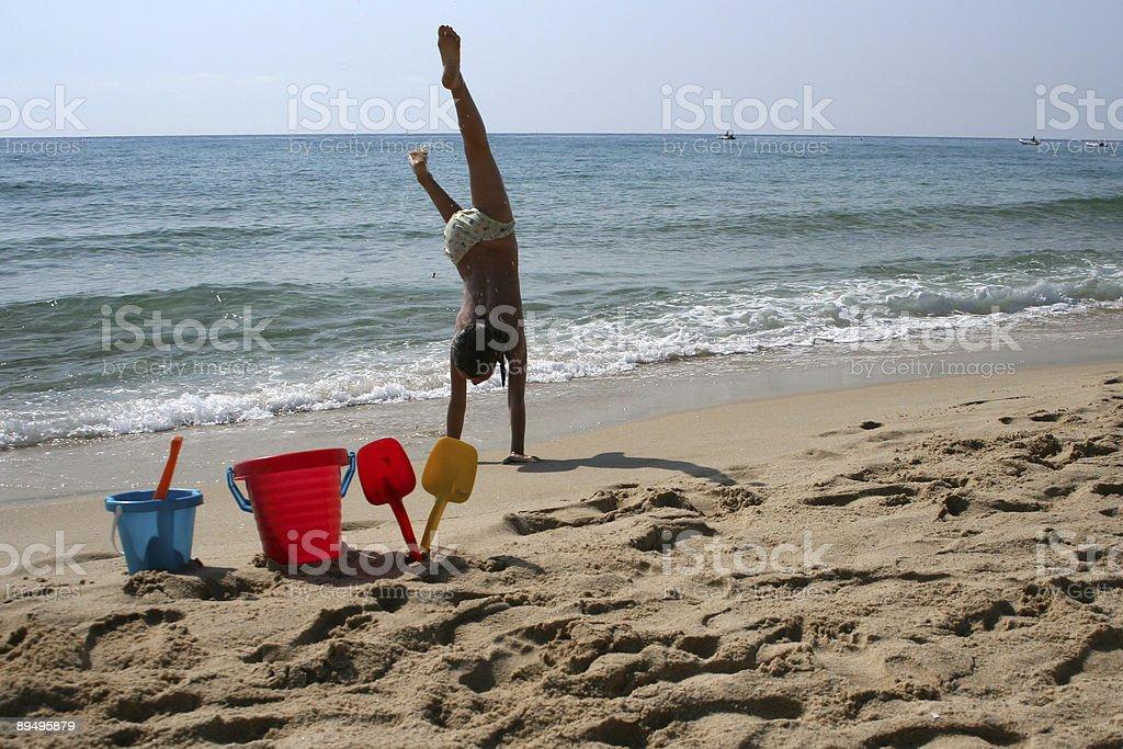 Grande divertimento in spiaggia foto stock royalty-free