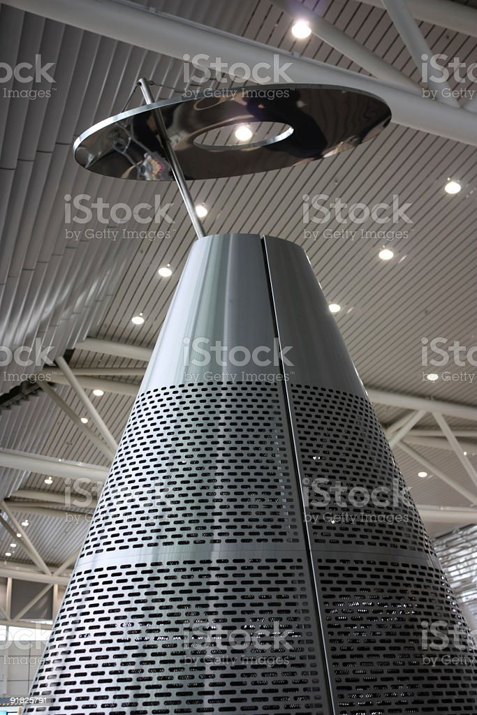 Big futuristic metal heater stock photo